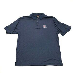 VINTAGE Nike University of Arizona WILDCATS Polo Size S Small Pin Striped Blue