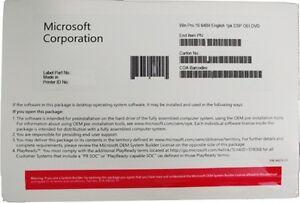 Details about BRAND NEW SEALED Microsoft Windows 10 Pro - 64-Bit SEALED DVD  OEM P/N FQC-08929