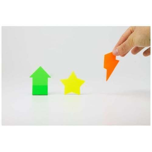 Transparent Sticky Notes - Shapes - Suck UK -Translucent Post It - Gifts