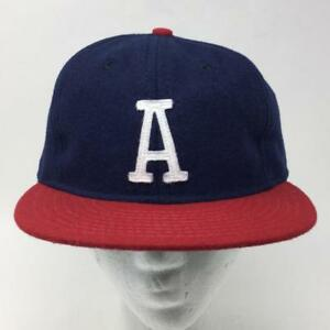 Image is loading Austin-Braves-Baseball-Cap-Ebbets-Field-Flannel-NEW- 512d050bf075