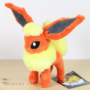 Pokemon-Center-Original-pequena-muneca-de-juguete-de-felpa-Flareon-Tamano-S-de-Japon