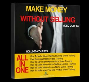 How To Make Money Without Selling Webinar Ebay