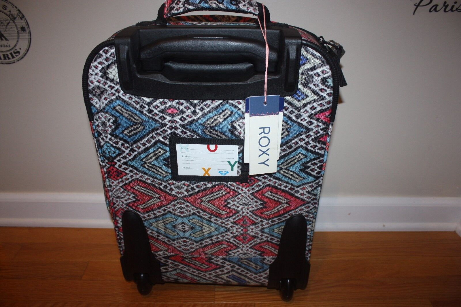6a6d9198ed7e ROXY Women's Wheelie Carry-on Suitcase Regatta Soaring Eyes