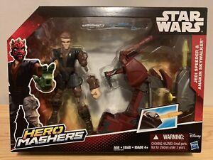 Star-Wars-Hero-Mashers-Jedi-Speeder-with-Anakin-Skywalker-6-034-Figure