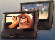 "Alba DVD8791BUK 7"" LCD Twin Dual Screen portable in car DVD Player- Black (B75)"