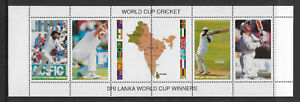 BATUM-1996-WORLD-CUP-CRICKET-Sri-Lanka-Winners-SHEETLET-of-4-Stamps-Tabs-MNH