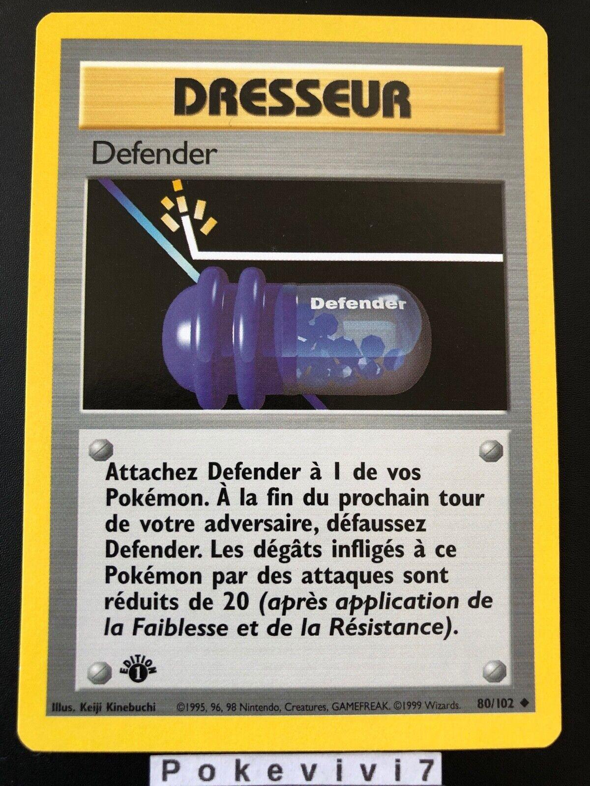 Carte Pokemon DEFENDER 80//102 Set de Base Wizard Edition 1 FR NEUF