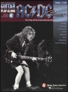 Adroit Ac/dc Classics Guitar Play-along Tab Music Livre Avec Support Audio Heavy Rock-afficher Le Titre D'origine
