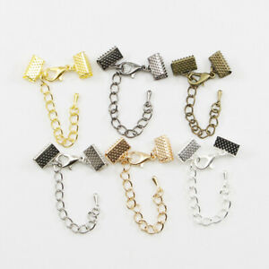 Lots-10Pcs-Extender-Chain-Lobster-Clasp-Connector-For-Jewelry-Making-DIY-Finding