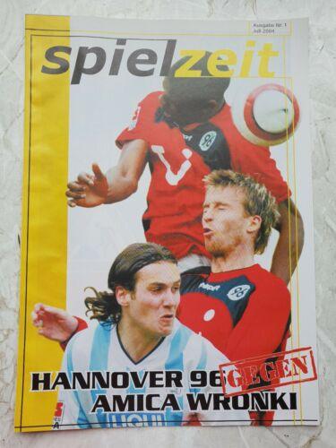 Off Programm Stadionheft Hannover 96 vs Amica Wronki Testspiel 2004