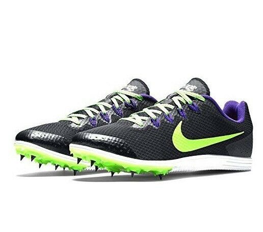 Nike Men's Zoom Rival D 9 Track Spikes shoes Cleats Black Purple Green Size 6