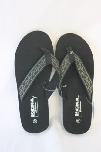 Wholesale ECSA Sandals Black With Printed Fabric Straps NEW SZ 10 free shipping