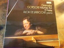 """ALICIA DE LARROCHA """" GRANADOS GOYESCAS VOLUMES 1& 2  LP"""
