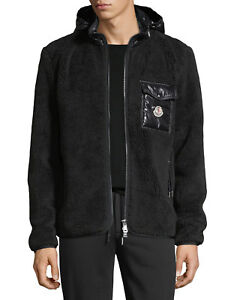 Moncler-Maglia-Cardigan-Mixed-Media-Down-Jacket-w-Hood-NWT-Size-XL-Black-995