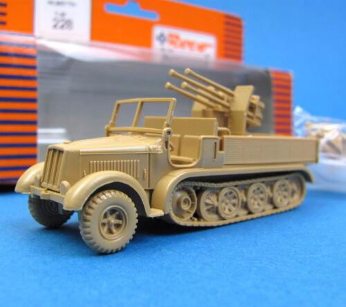 Roco Minitanks H0 228 HALBKETTENFAHRZEUG MIT FLAK HO 1:87 EDW WWII Wehrmacht OVP
