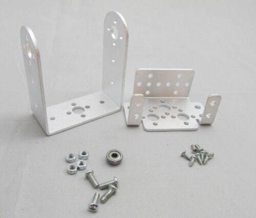 New Silver 2 DOF Pan and Tilt Servos Sensor Mount Kit for Robot Arduino MG995