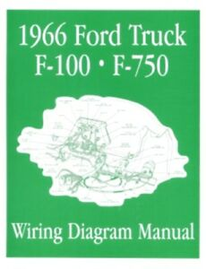ford 1966 f100 f750 truck wiring diagram manual 66 ebay 1966 harley davidson wiring diagram image is loading ford 1966 f100 f750 truck wiring diagram manual