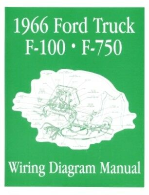 ford 1966 f100 f750 truck wiring diagram manual 66 ebay. Black Bedroom Furniture Sets. Home Design Ideas