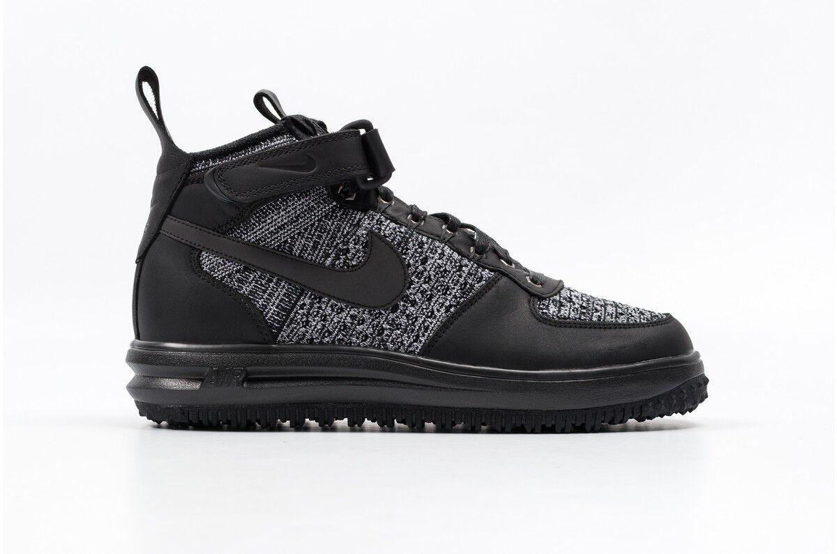 Nike WOMEN'S Lunar Force 1 FLYKNIT Workboot Black/Cool Grey SIZE 8 NEW Wild casual shoes