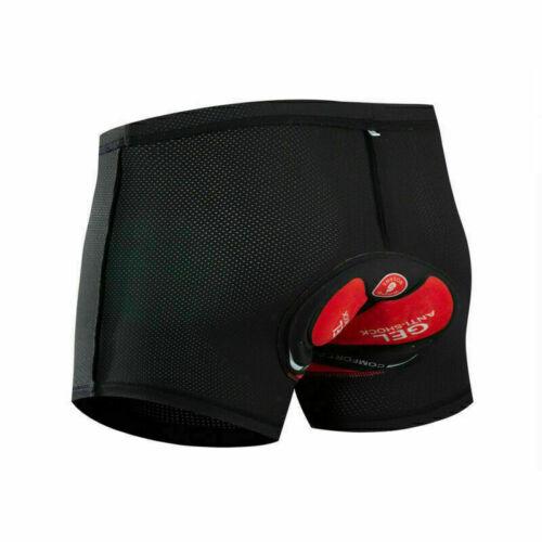 Men/'s MTB Cycling Padded Shorts Silicone Gel Padded Mesh Liner Bike Shorts Pants