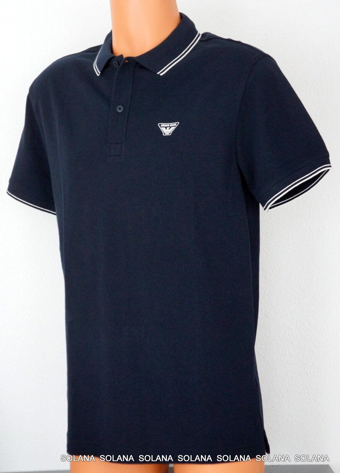 AJ Logo Armani Jeans Tipped Polo Shirt T-Shirt Short-Sleeve NWT