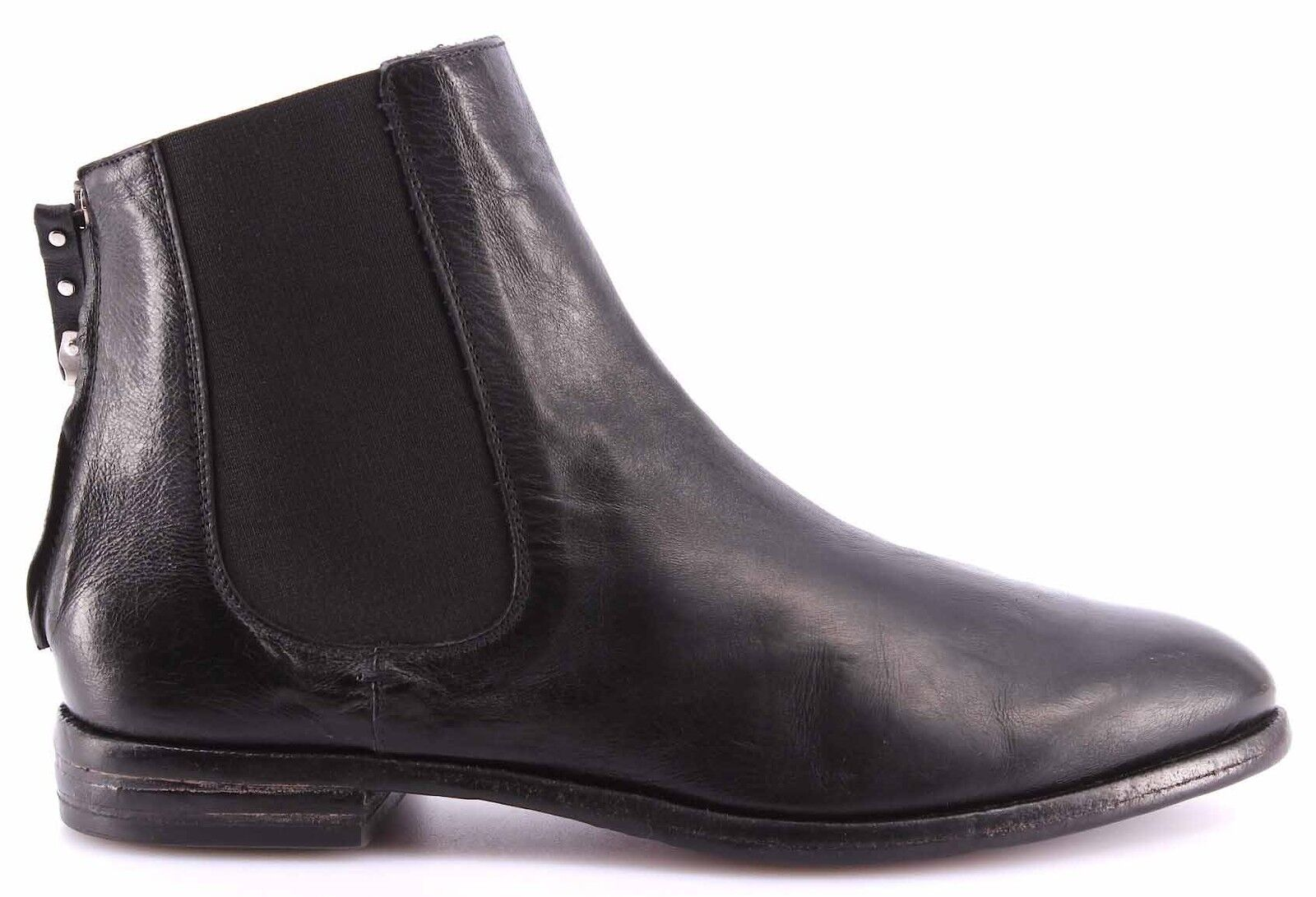 MOMA Scarpe Stivaletto Donna Ankle Boots 98505-5A Sting Nero Pelle Vintage Italy