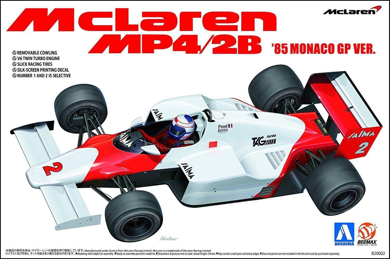 KIT AOSHIMA - BEEMAX  1 20 AUTO F1 MCLAREN MP4 2B '85 MONACO GP VER B20002 NO.09