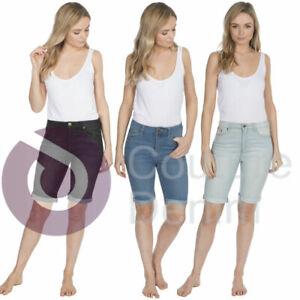 Ladies Shorts Linen Womens Summer Beach Casual Size UK 10-20 Girls Knee Length