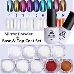 9Boxes-BORN-PRETTY-Mirror-Powder-Nail-Art-Chrome-Pigment-W-Base-amp-Top-Coat-Set