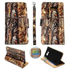 For Samsung Galaxy S6 Edg Plus Ck Wallet Camo Brown Oak Cover Case Un