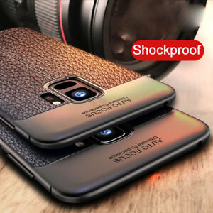 ada3602e190 For Samsung Galaxy A8 A8+ 2018 Note 9 Shockproof Rubber Leather Back ...