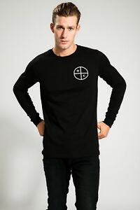 ASCOLOUR-HIGH-QUALITY-MEN-039-S-BLACK-SUMMER-LONG-SLEEVE-WITH-PRINT