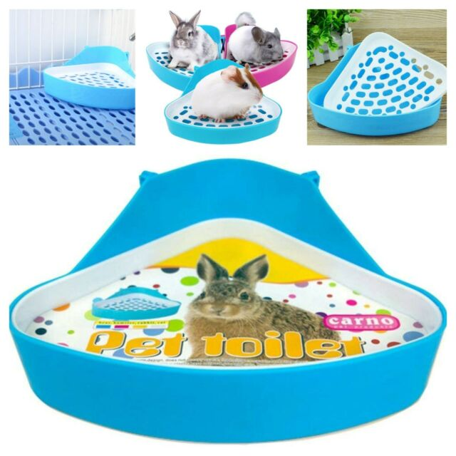 B83E Pet Corner Toilet Litter Tray Box for Cat Mouse Rat Rabbit Hamster Plastic