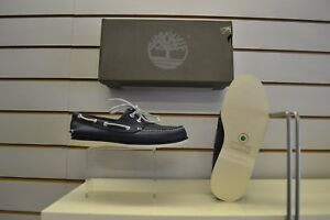 e5b9550a3d2 Men's Timberland A1FHU Navy Leather Boat Shoes UK Size 7 EU 41 ...