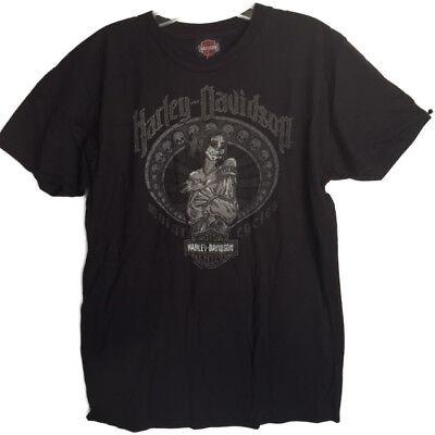 """Harley-Davidson Men/'s Black Short Sleeve /""""boared Crest/"""" Hog pig shirt Large"""