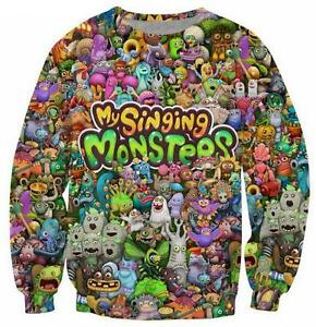 New-Fashion-Women-Men-Cartoon-My-Singing-Monsters-3D-Print-Sweatshirt-132