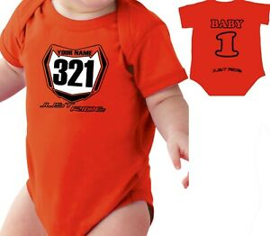 BERM BUSTIN/' BABY BOY SHIRT CREEPER INFANT ONE PIECE MOTO MX MOTOCROSS JUST RIDE