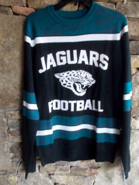JACKSONVILLE JAGUARS FOOTBALL SWEATER S NFL LICENSED CREW NECK VIBRANT COLOR NWT