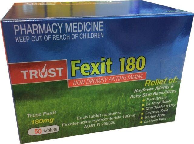BEST PRICE! SAME AS TELFAST FEXOFENADINE 180MG **50** TABLETS Hayfever  Allergy