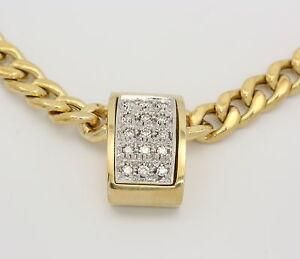Gelb-Weiss-Gold-Collier-in-aus-14k-mit-Diamanten-Diamant-Diamantkette-Goldcollier
