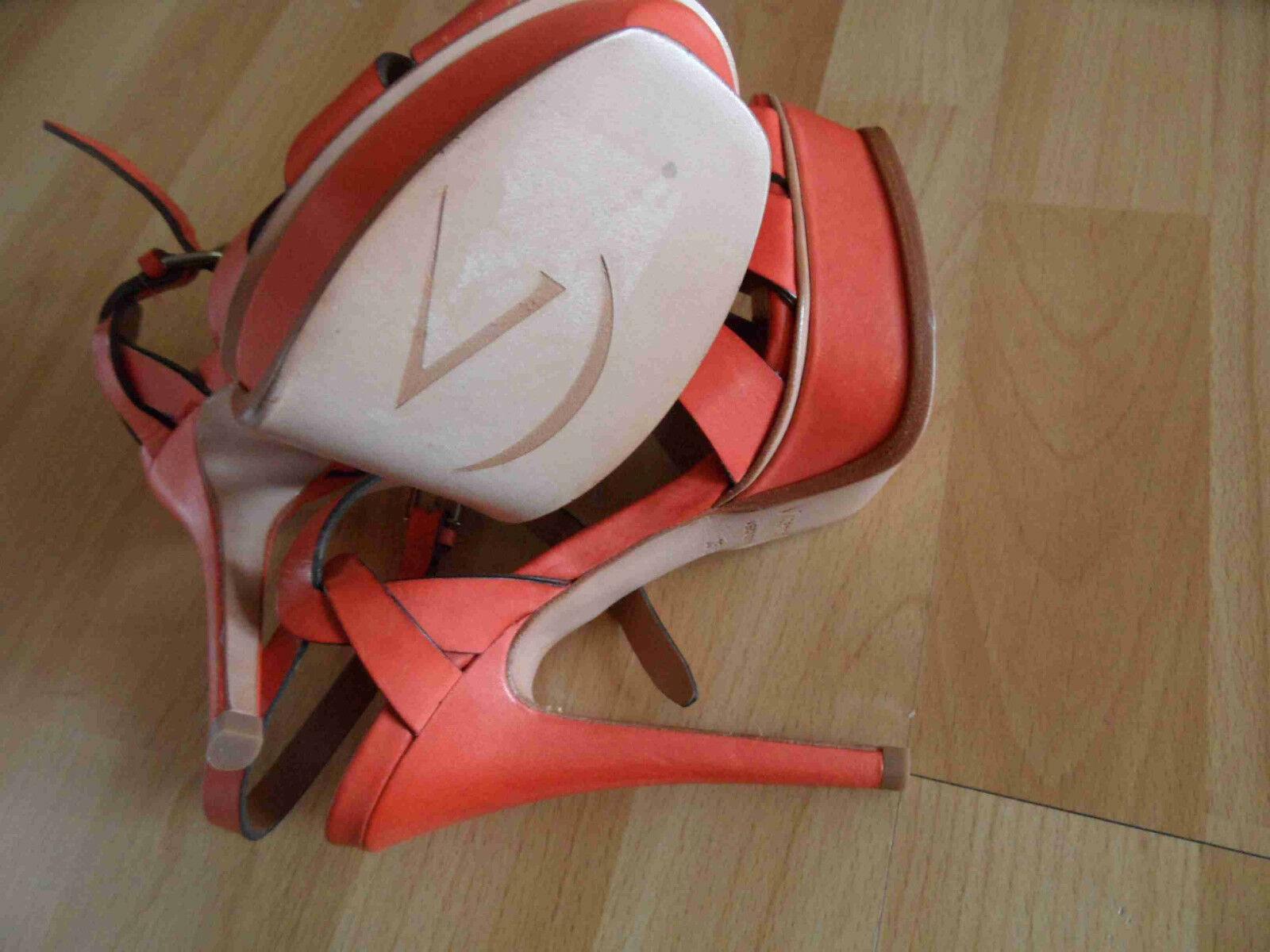 VICENZA stylische hohe Sandalen High Heels orange Gr. 35 35 35 NEU OA 1639a9