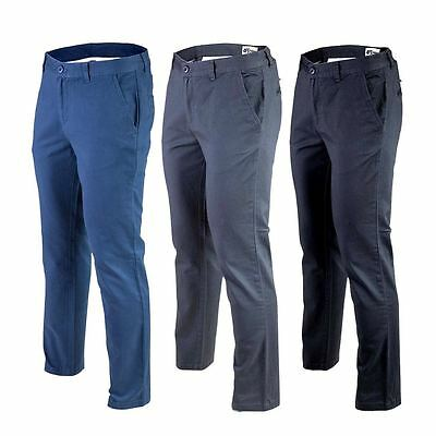 Men's Chino Trousers Slim Fit Cotton Regular Pants Casual waist sizes Skinny New