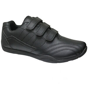 new mens black quality trainers sports gym jogging running
