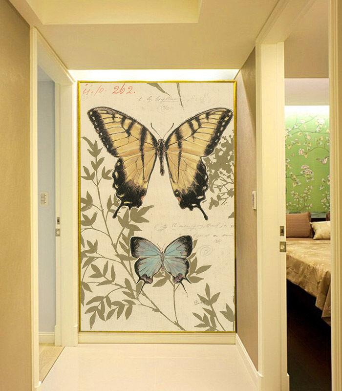 3D Farfalla Gialla Parete Murale FotoCarta da parati immagine sfondo muro stampa