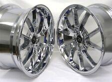 "20"" Chrome Mustang FR500 Wheels Deep Dish 20x8.5 20x10 5x114.3 Rims 05-17"