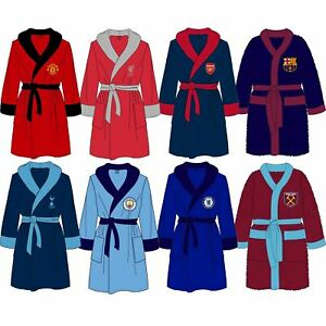Mens-Official-Football-Club-Fleece-Dressing-Gown-Robe-Size-Small-Medium-Large-XL