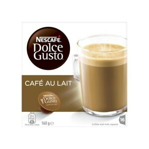 Nescafe Dolce Gusto Cafe Au Lait Coffee Capsules 16 Pack 160g