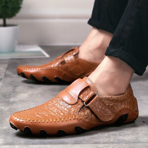 Men-039-s-Comfort-Driving-Car-Leather-Slip-on-Loafers-Boat-Shoes
