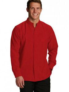 New Men's Paprika Color Long Sleeve Shirt Size 4XL Mandarin Doc & Amelia Open
