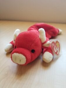 f36cd3bedc1 Snort red bull Ty beanie baby rare. In mint condition. with all tags ...